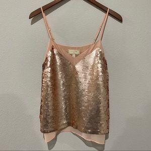 Anthropologie - Pink Sequin Camisole